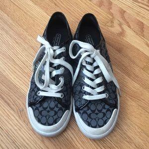 Coach signature c black shoes 7.5